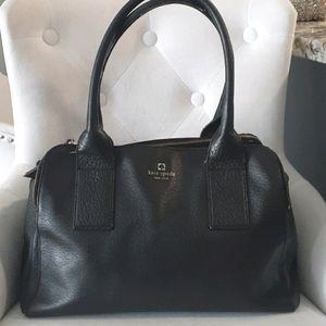 Kate spade black leather satchel bag